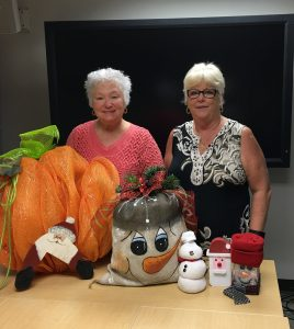 Kraft Chair Elect, Libby Baker with 2016 Kraft Chair Bonnie Hueneman and some crafts ready to go!
