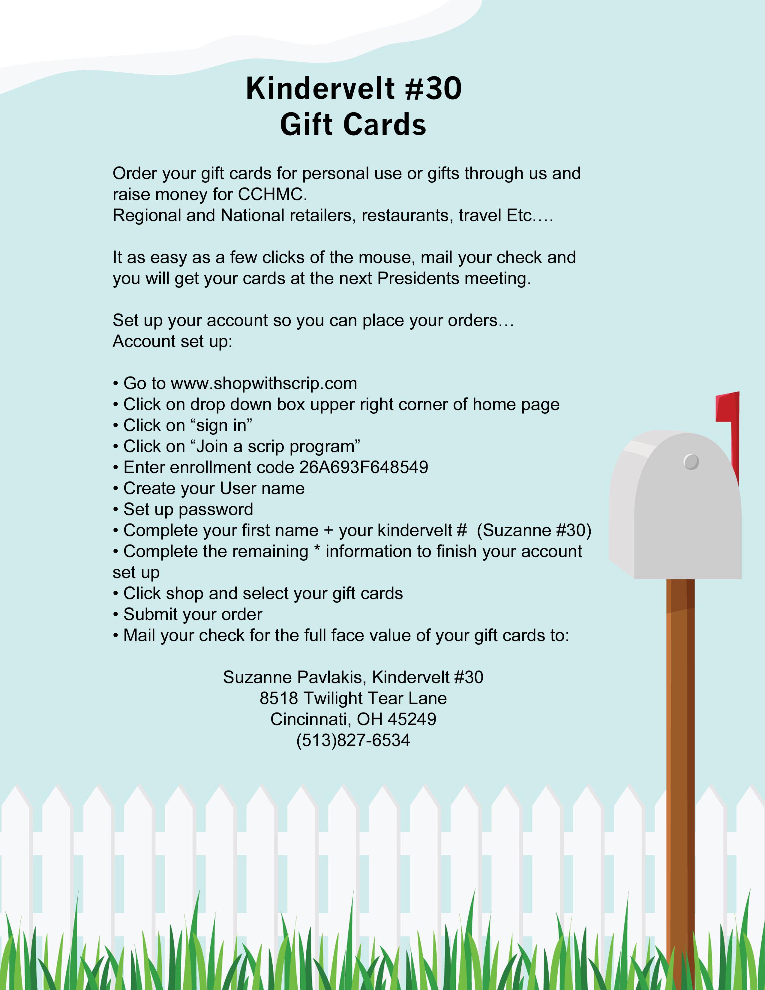 KV #30 Gift Card Sale