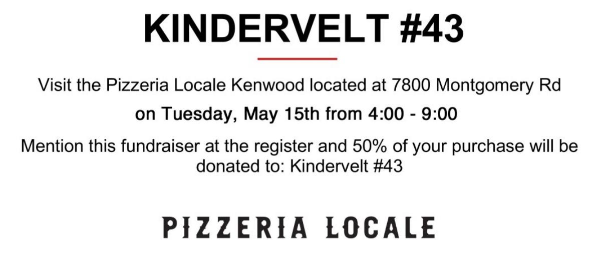 Dine & Donate – Pizzeria Locale
